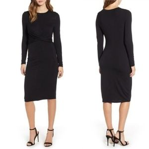 Socialite Lightweight Jersey Bodycon Midi Dress S